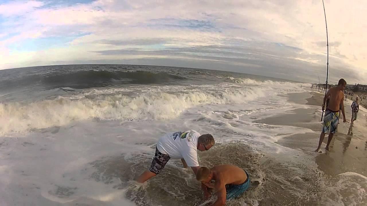 Shark fishing bethany beach delaware surf fishing youtube for Delaware surf fishing