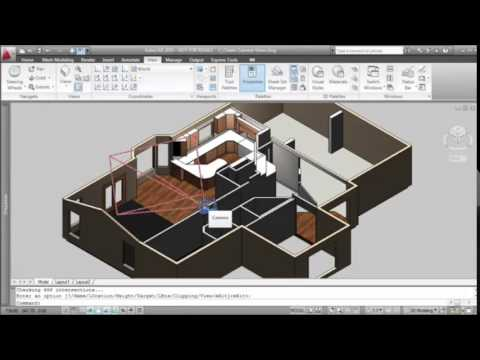 Using Camera In Autocad Create A View For Interior Design Youtube