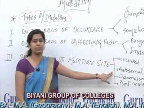 Mutation(BSc Biotechnology) lecture by Madhuri Sharma