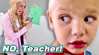 Prank The Teacher And Escape The HomeSchool Classroom with Miss Cranky - Tannerites Home School!