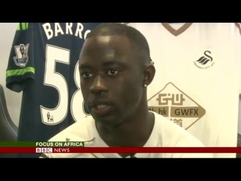 Swansea and Gambia striker Modou Barrow
