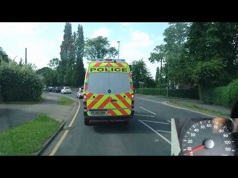 West Yorkshire Police Casualty Reduction Partnership Fitzwilliam & Police van Ambulance speed combo