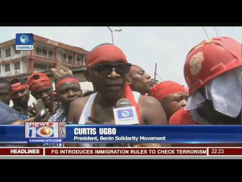 News@10: Benin Youth Picket NPDC Over Marginalisation 20/03/17 Pt 2