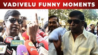 EXCLUSIVE VIDEO : Vadivelu Funny Moments at Election Booth | Indian Election 2019