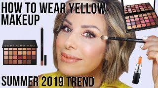 How To Wear Yellow Makeup | Dominique Sachse