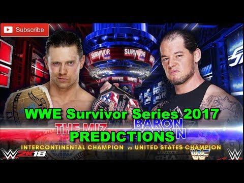 WWE Survivor Series 2017 The Miz vs. Baron Corbin Predictions WWE 2K18