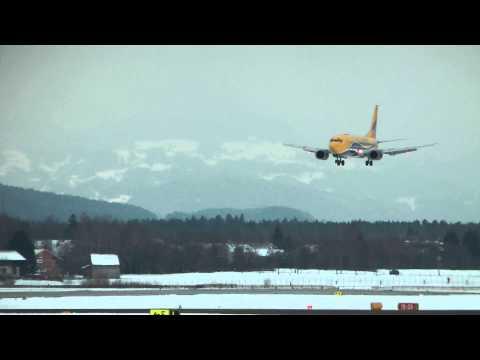 Europe Airpost Boeing 737-39M(QC) landing Salzburg Airport (SZG/LOWS) HD