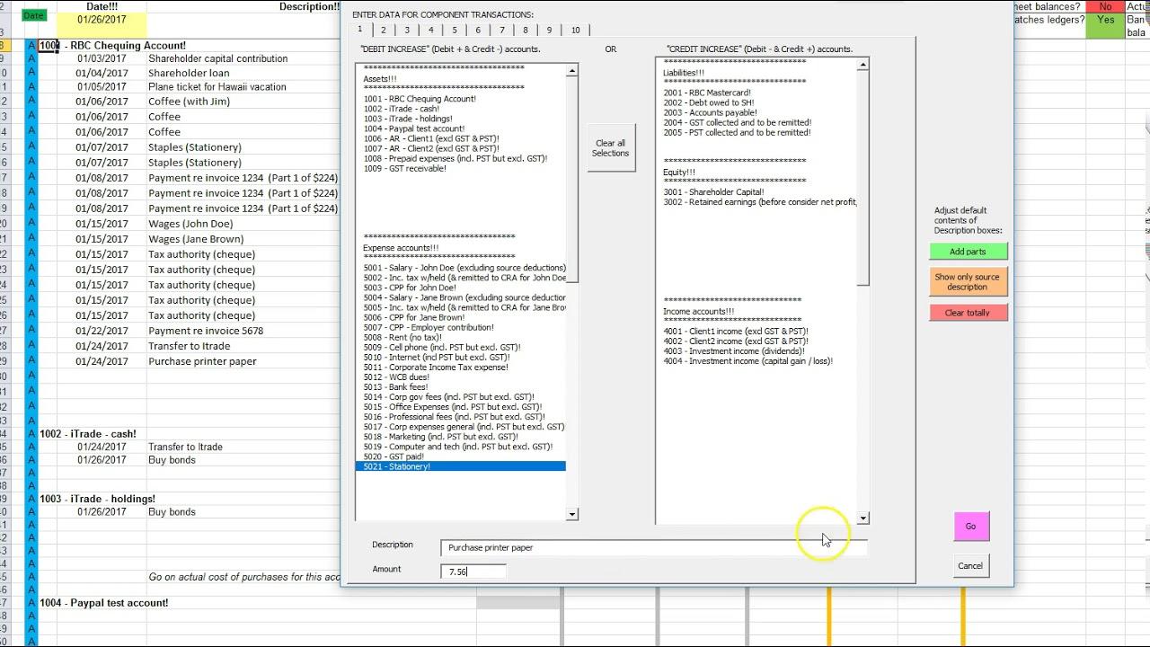 accounting ledger spreadsheet