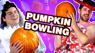 PUMPKIN BOWLING! (Smosh is Bored)