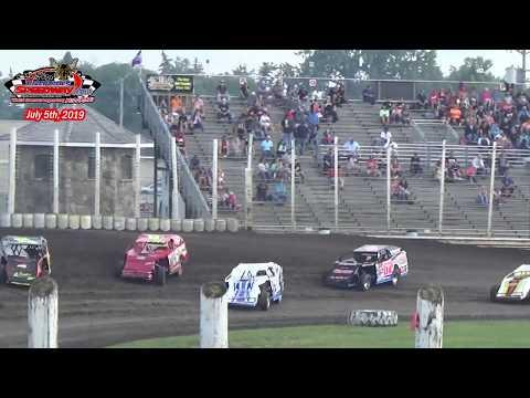 River Cities Speedway WISSOTA MW Modified Heats (7/5/19)