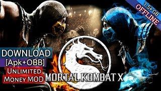Gambar cover Mortal Kombat X Mod APK+OBB [Unlimited Coins And Money] Download On Android