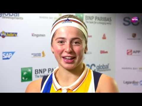 My Performance | Jelena Ostapenko defeats Karolina Pliskova | 2017 WTA Finals Singapore