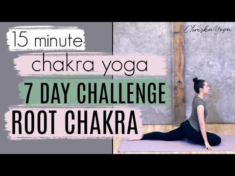 15 Min Root Chakra Yoga Routine | DAY 1 - 7 Day Chakra Yoga Challenge | ChriskaYoga