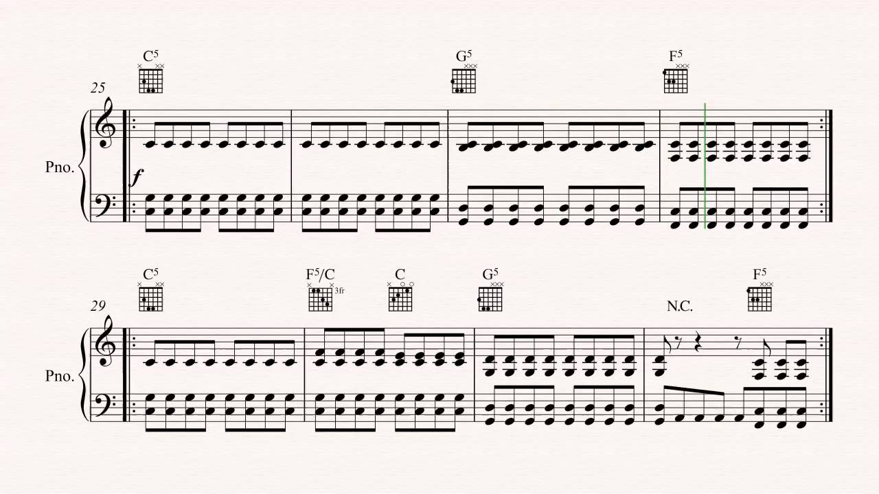 Piano   All the Small Things   Blink 15   Sheet Music, Chords, & Vocals