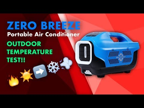 Zero Breeze Portable Air Conditioner: Output Temperature Test [OUTDOOR]