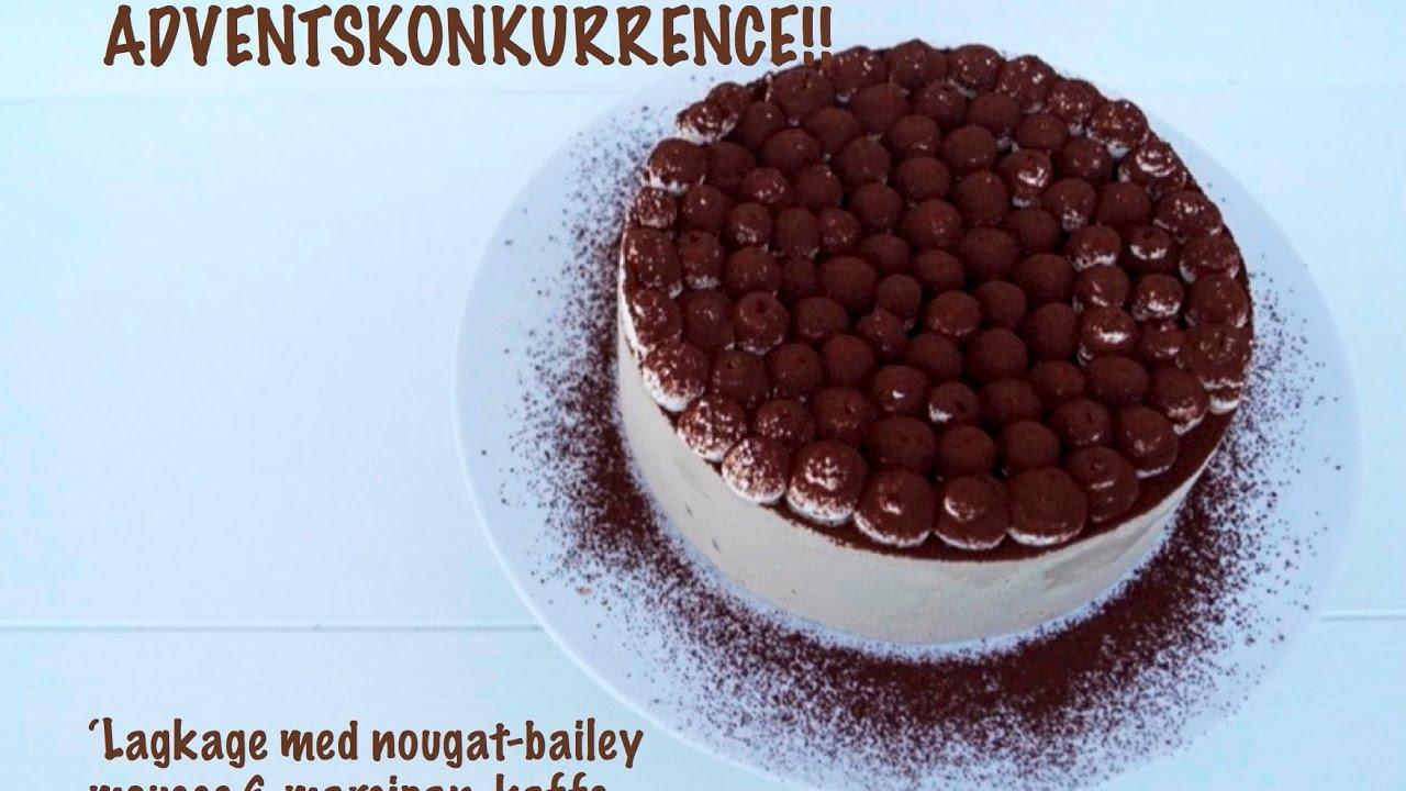 Lagkage med nougat-bailey mousse & marcipan-kaffe bund (GLUTENFRI)   Liv  Martine