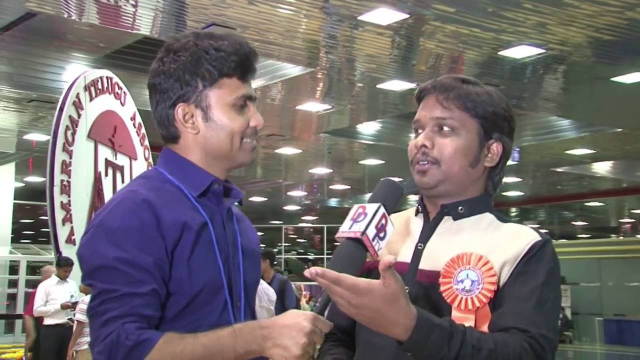 Imitation Raju Speaking to Desiplaza TV at ATA convention