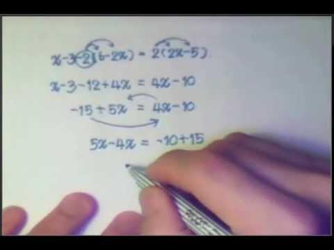 สมการเชิงเส้นตัวแปรเดียว PART 3