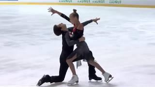 Ушакова Арина/Некрасов Максим  Россия | ISU Гран При (юниоры) 2018 Каунас | Ритм танец Танцы на льду