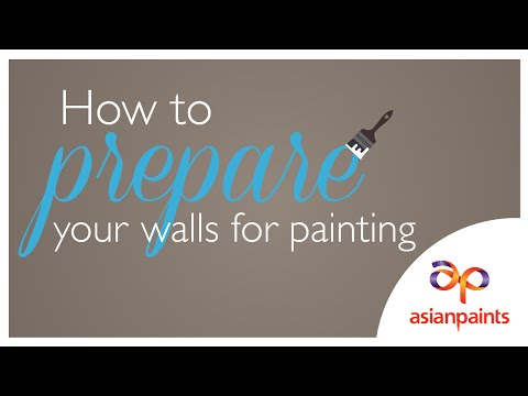 How to prepare your walls for painting