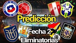 Predicción Fecha 2 |Eliminatorias Sudamericanas Qatar 2022