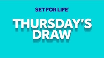 The National Lottery 'Set For Life' draw results from Thursday 19th March 2020