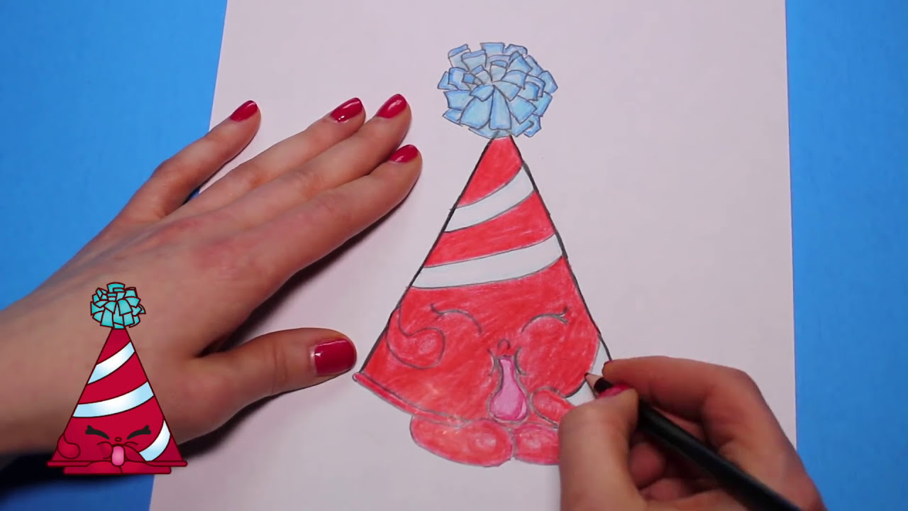 How To Draw Shopkins Season 4 Quot Marty Party Hat Quot Step By