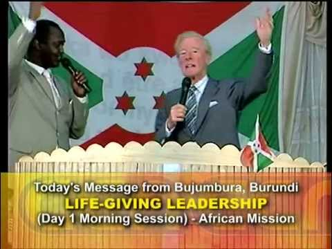 LIFE-GIVING LEADERSHIP Part 1-2 Day 1 (Bujumbura, Burundi) with Dr Cecil Stewart OBE
