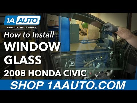 How to Replace Front Door Window Glass 05-11 Honda Civic
