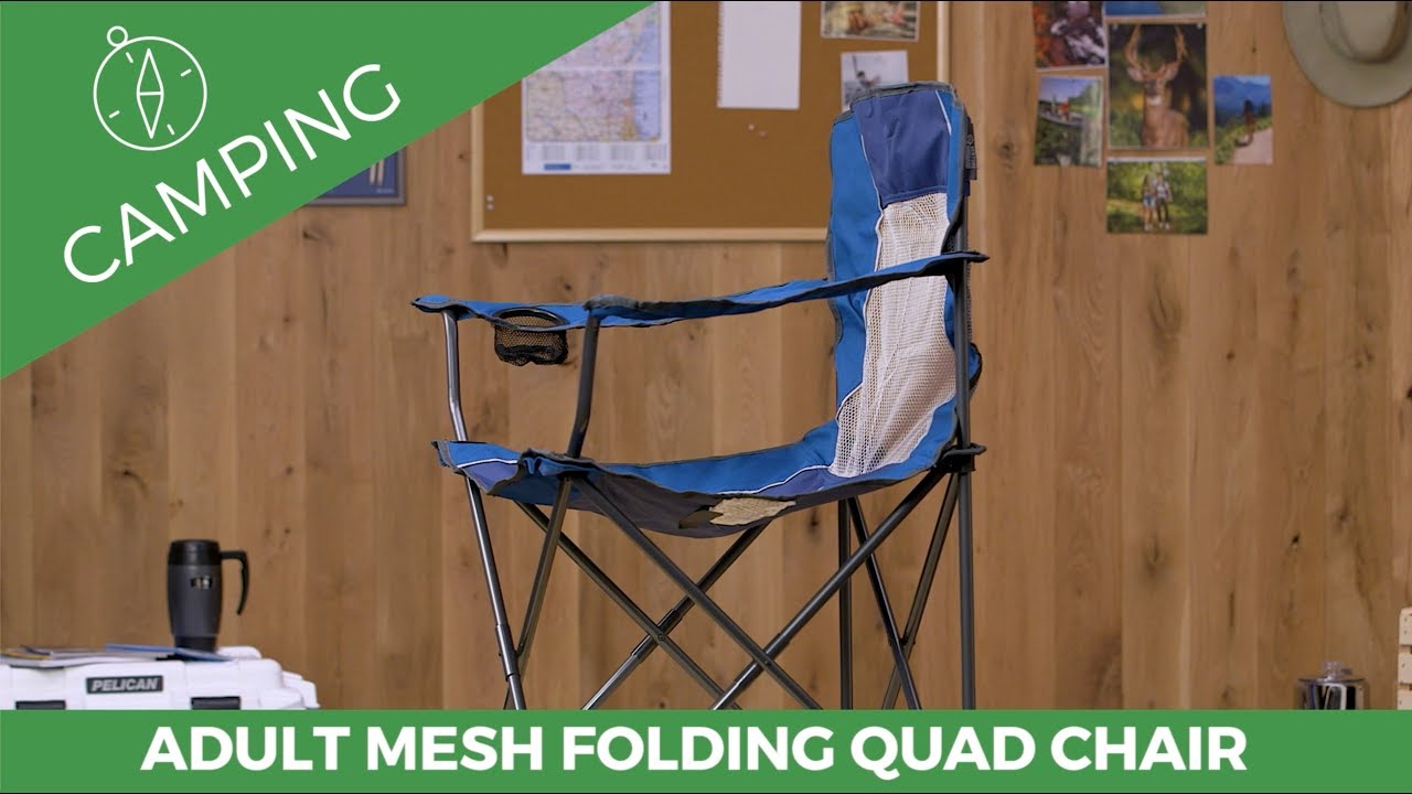 folding quad chair guineys dining covers adult mesh youtube