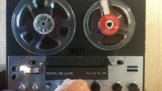 Reel to reel Uher royal Deluxe funcionando.