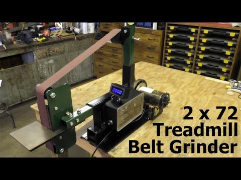 "Making a DIY 2x72"" Belt Grinder from Treadmill Parts"