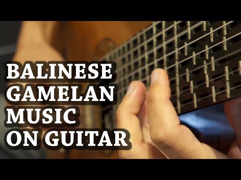 Balinese Gamelan Music on Microtonal Guitar - Chris Charles