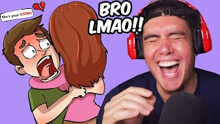 "He Found Out His GIRLFRIEND Was His SISTER And Didn't Tell Her (Reacting To ""True"" Story Animations)"