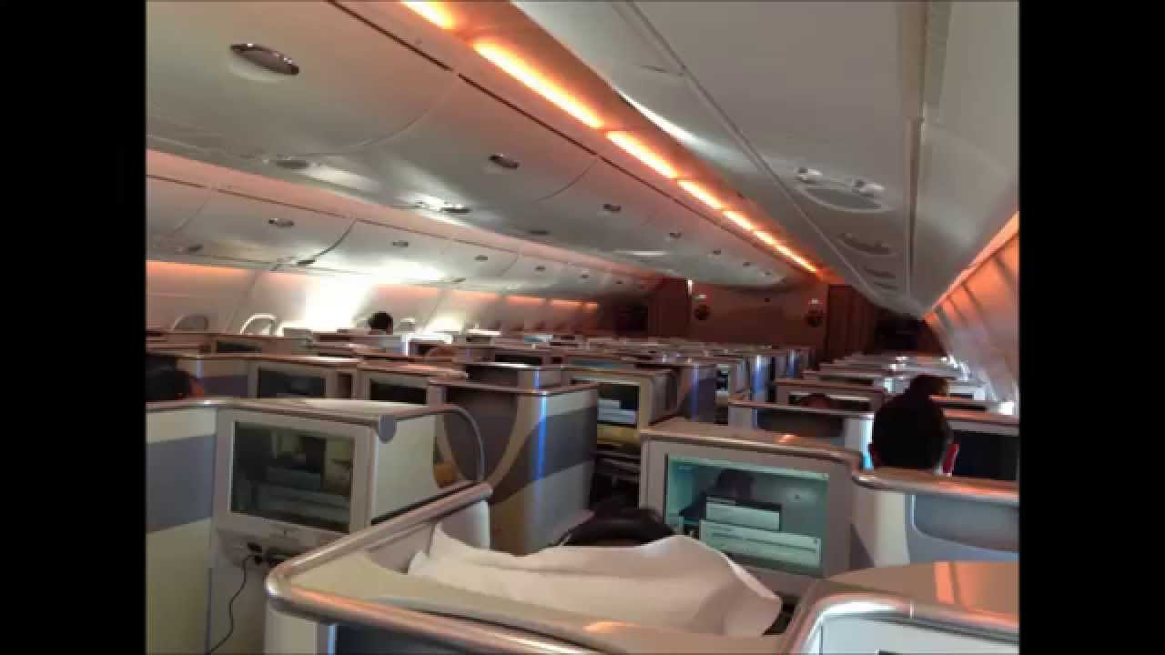 Emirates Business Class A380-800 review - YouTube