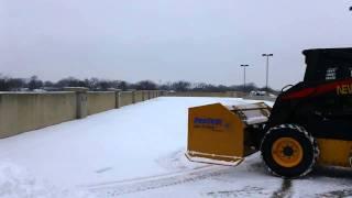 Skidsteer snow removal