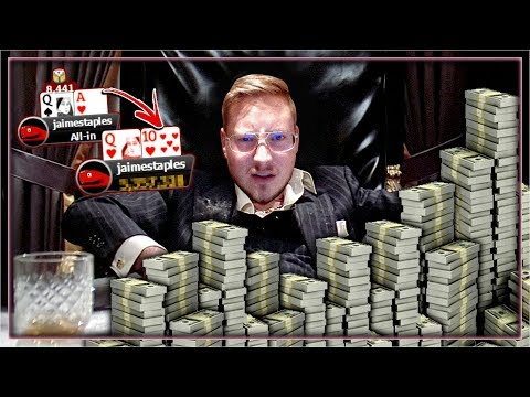 *CRAZY STREAM* FINAL TABLE HYPE!!! FROM 1 BIG BLIND TO...? | PokerStaples Stream Highlights