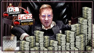 *CRAZY STREAM* FINAL TABLE HYPE!!! FROM 1 BIG BLIND TO...?   PokerStaples Stream Highlights