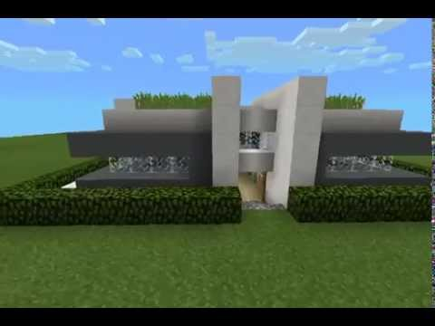 Mcpe map review Modern house download in description YouTube