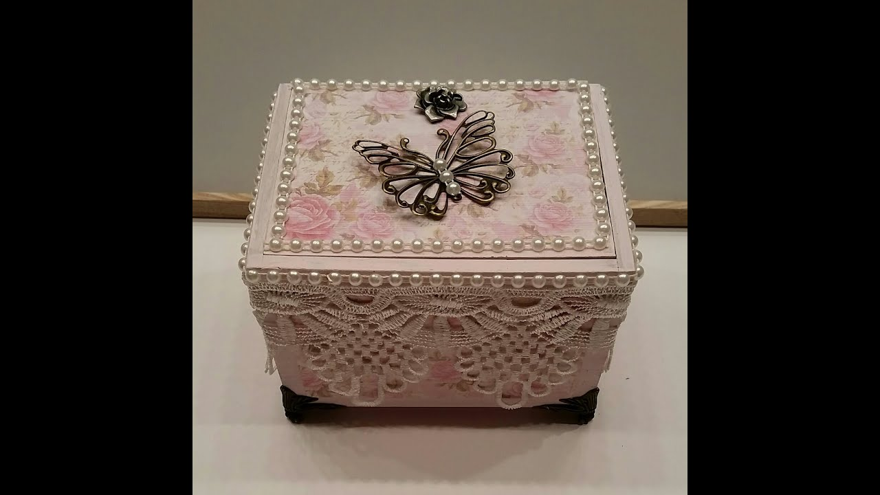 Elegant Shabby Chic Altered Cigar Box - Jewelry Box : marie antoinette jewelry box - Aboutintivar.Com