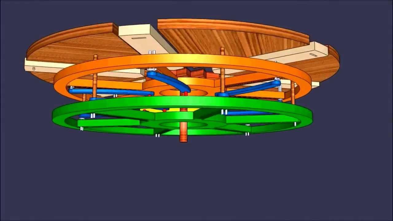 Projeto de mesa expansiva no solidworks youtube - Mesa de centro giratoria ...