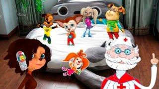 Барбоскины новые серии мультик - песенка Прыгали на кроватке 5 little baby jumping on the bed