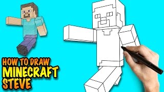 How to draw Minecraft Steve - Easy step-by-step drawing lessons for kids