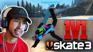 Beat A FAN In A 1v1 SPOT BATTLE COMPET T ON X7 Albert Skate 3