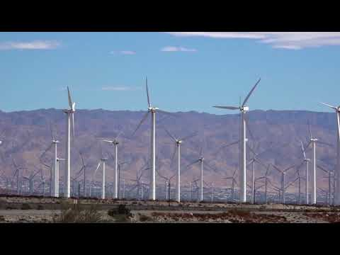 San Gorgonio Pass Wind Farm at Palm Springs, CA