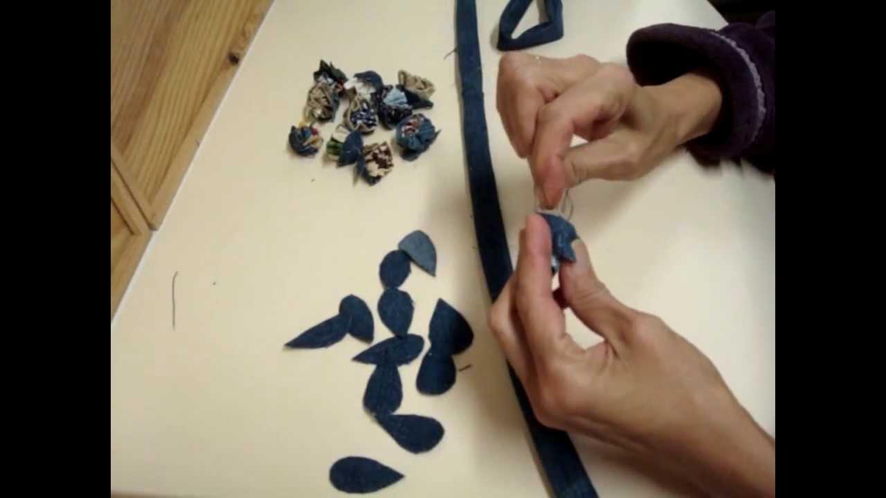 Cinturon de tela vaquera con flores youtube - Como hacer un cabecero de tela ...