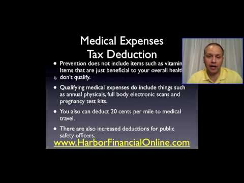 Medical Expenses Tax Deduction