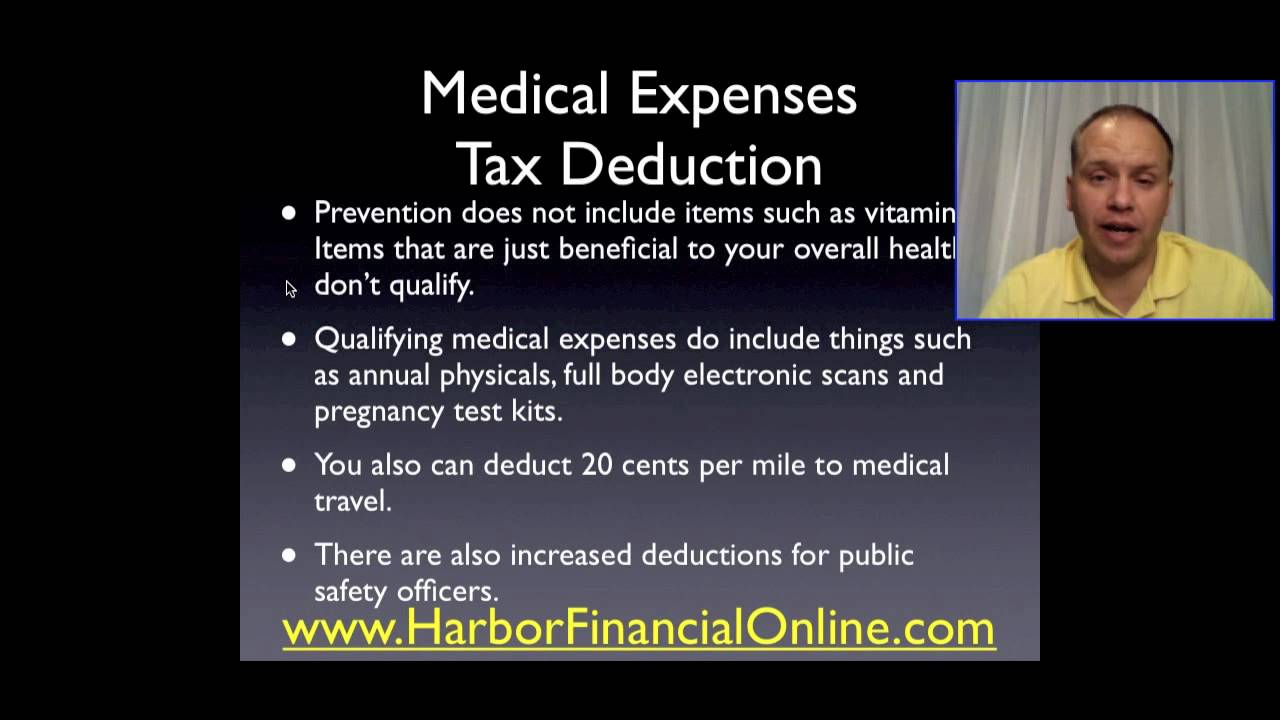 Medical Expenses Tax Deduction - YouTube