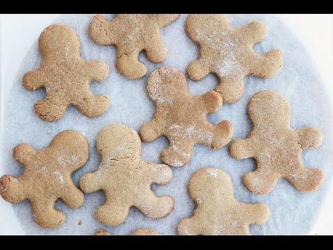 Vegan Gingerbread People Christmas Recipe | Gluten Free + Oil Free