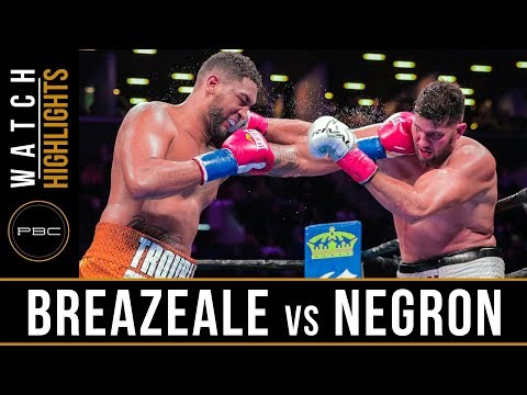 Breazeale vs Negron HIGHLIGHTS: December 22, 2018 — PBC on F